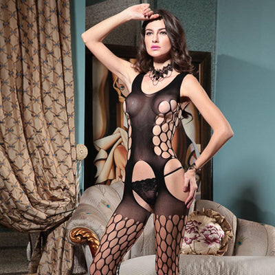 Body Stocking Fishnet Dress - Ladies Sexy Net Dresses - HZ8838