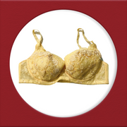 Imported Stocklot Branded  Net Pushup Bra - Underwired Padded Bra - Pack of 2