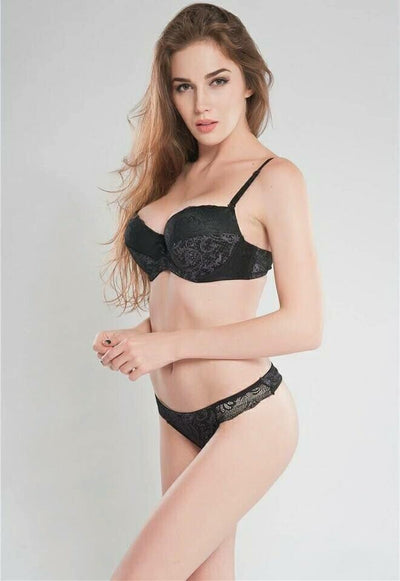 Sexy Magic 1603 Pushup Bra Panty Set Black- Double Padded Underwired Bra  Panty Set 1ba5f8044