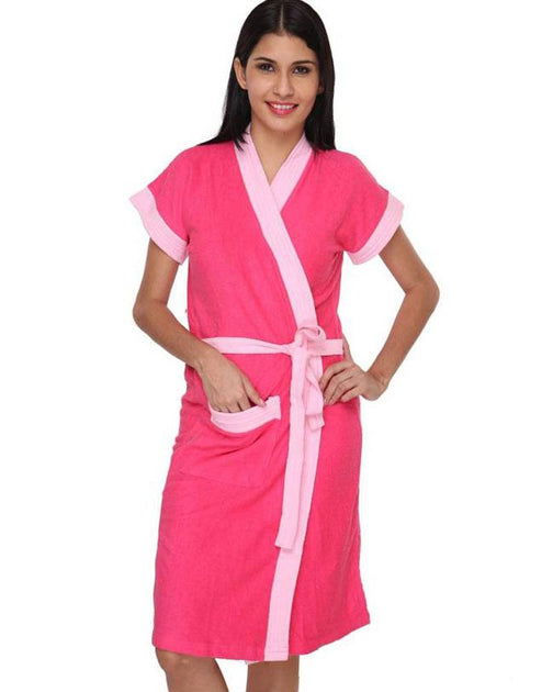 ceee6c1c52 Ladies Bathrobe Soft Cotton - Hot Pink – Online Shopping in Pakistan -  NIGHTYnight