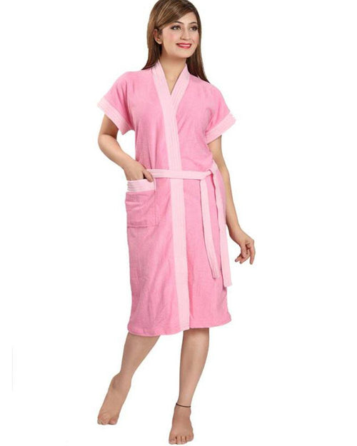Buy Ladies Bathrobe Soft Cotton - Baby Pink Online in Karachi, Lahore, Islamabad, Pakistan, Rs.{{amount_no_decimals}}, Ladies Bathrobe Online Shopping in Pakistan, Thailand Lingerie, Bathrobe, cf-type-ladies-bathrobe, cf-vendor-thailand-lingerie, Clothing, Color = Baby Pink, Lingerie, Lingerie & Nightwear, Made in Thailand, Material = Cotton Towel, Nightwear, Size = Free, Women, Online Shopping in Pakistan - NIGHTYnight
