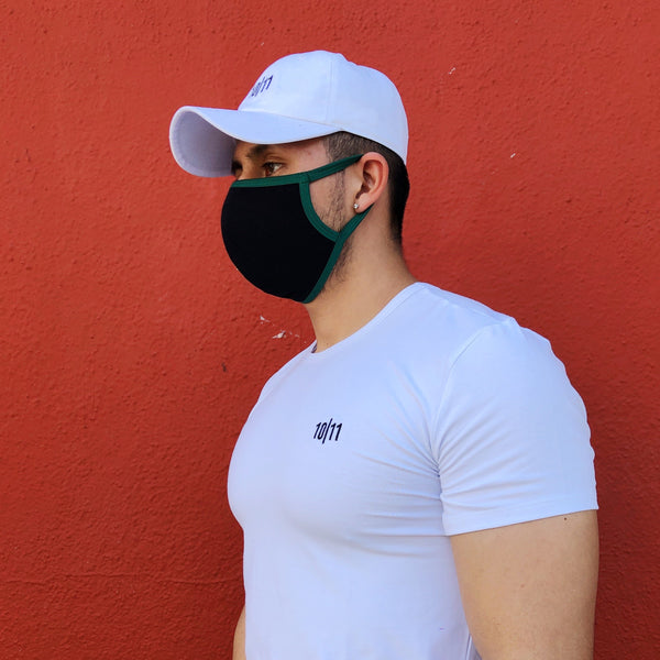 ANTI-MICROBIAL F-MASK BLACK GREEN
