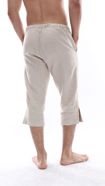 MARLEY THREE QUARTER LENGTH LINEN PANTS