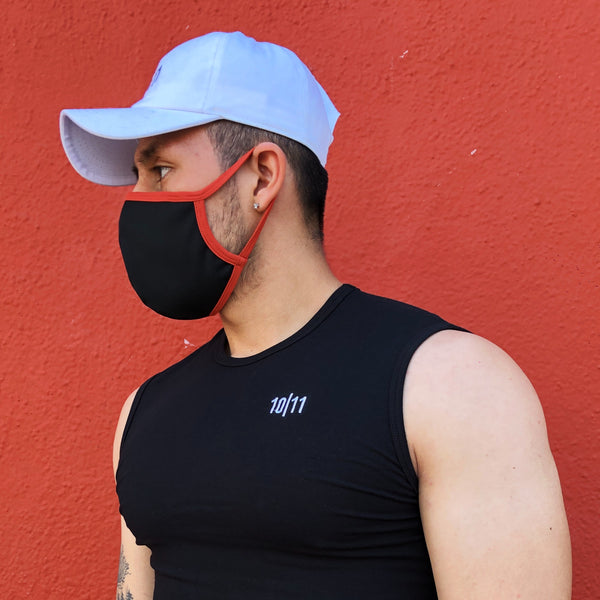 ANTI-MICROBIAL F-MASK BLACK RED