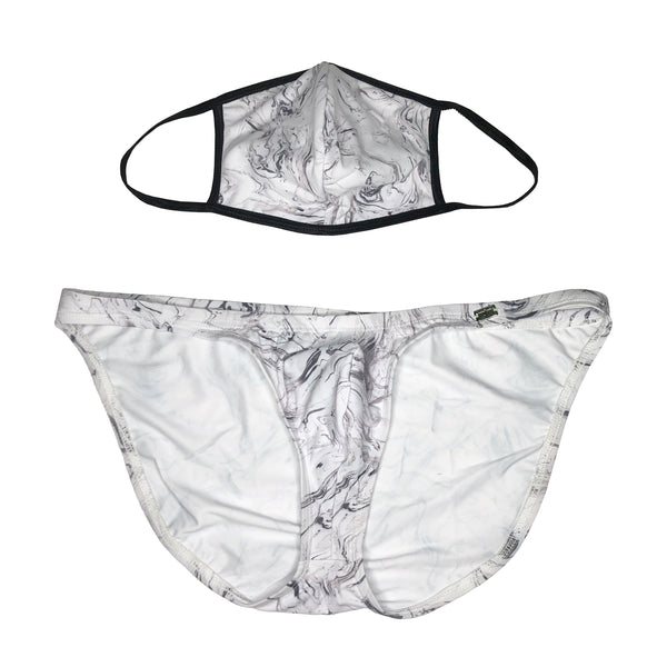 HACIEL BRIEF MARBLE PRINT MASK SET