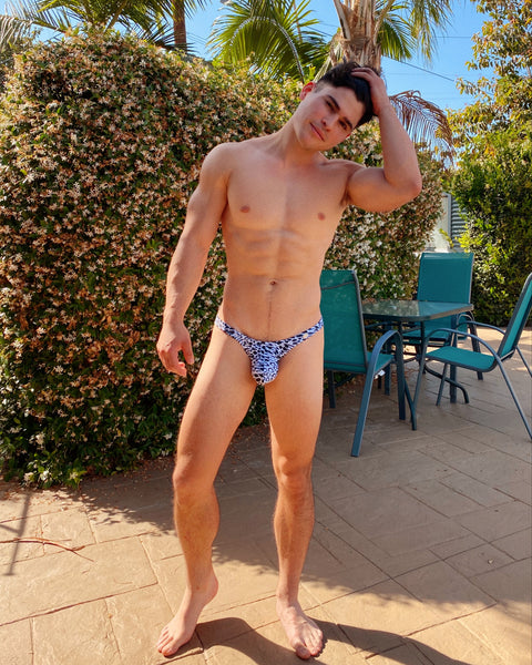 HACIEL LEOPARD SWIM BRIEF