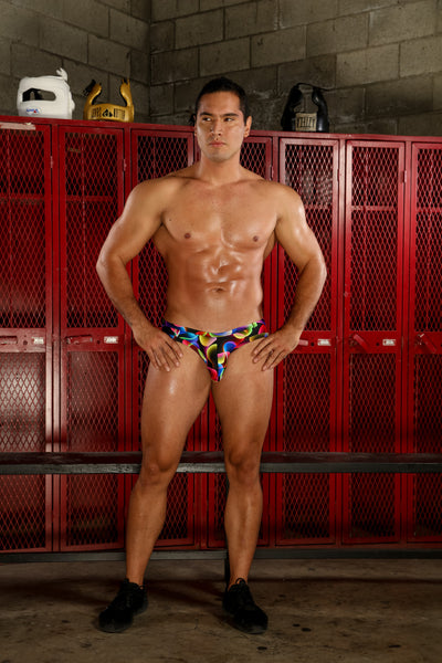 HACIEL RAINBOW VIBE SWIM BRIEF