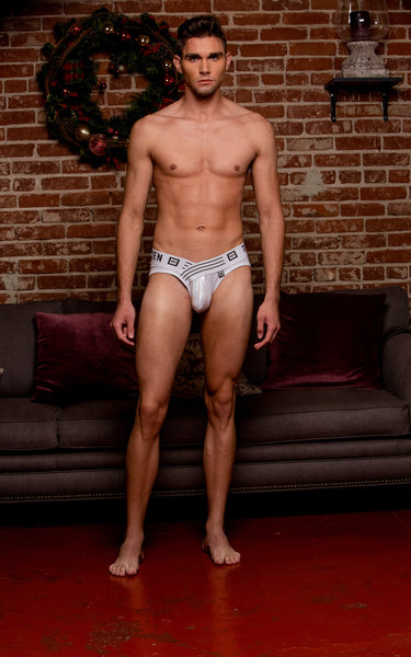 SKYLAR BRIEF WHITE HOLOGRAM