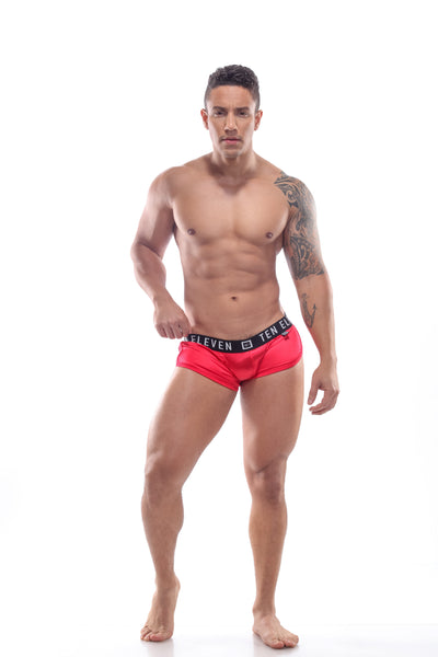 ISAIAH PEEP MESH BOXER BRIEF SATIN