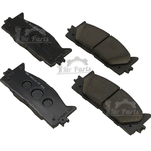 Genuine Toyota ( 04466-06090 / 04466-YZZAQ /04465-06100) Rear Brake Pad Kit, fits 2007-2012 Toyota Avalon, 2007-2011 Camry