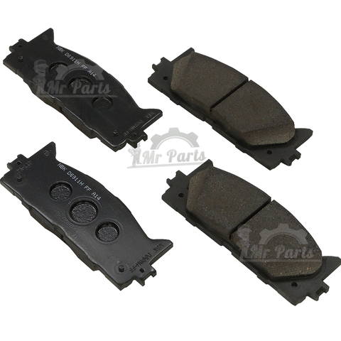 Genuine Toyota ( 04466-06200 / 04466-YZZAQ ) Rear Brake Pad Kit, fits 2013-2018 Avalon, 2012-2017 Camry