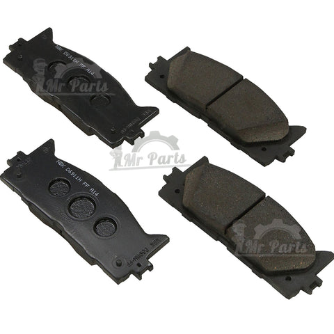 Toyota (04466-60020 / 04466-YZZAM) Rear Brake Pad Set for Toyota 4Runner  Hilux Land Cruiser Tacoma