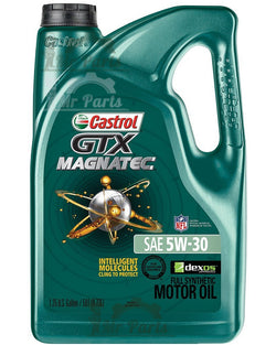 Castrol GTX MAGNATEC 5W-30 Full Synthetic Engine Oil, 5 Quarts
