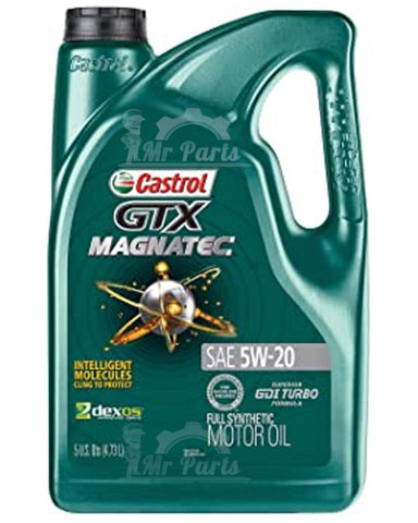 Castrol 03063 GTX MAGNATEC 5W-20 USA, Full Synthetic Engine Oil, 5 Quarts