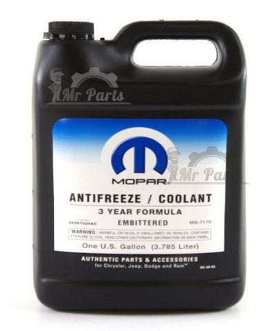 Mopar Anti freez/Coolant 3 Years formula Embittered (04267020GC) , One U.S Gallon- (3.785 Liters)