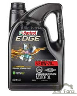 Castrol 03124 EDGE 0W-20 USA, Advanced Full Synthetic Motor / Engine Oil, 5 Quarts