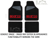 Sparco SPC 4 Piece Car Floor Mats, Black/Red