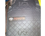 Toyota Branded 4 Piece Rubber Car Floor Mats - Black & Red