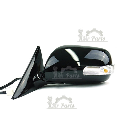 Left LH Driver Side, Black Heated Folding Door Side Mirror for Toyota Camry  2006 2007 2008 2009 2010 2011