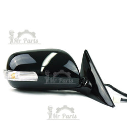 Right RH Passenger Side, Black Heated Folding Door Side Mirror for 2006-2011 Toyota Camry