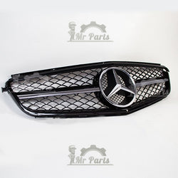 Mercedes Benz Front Grille, 1 Fin Chrome Style NEW Black, fits 2000 - 2007 W203 C230 C320 C280 C220 C32