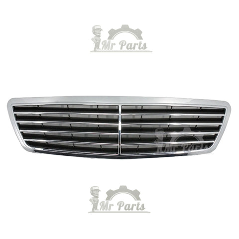 Mercedes Benz Front Grille, 5 Horizontal Fin Chrome Style, fits 2000 - 2007 W203 C230 C320 C280 C220 C32