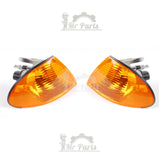 Amber Corner Turn Signal Light - Driver & Passenger Side - Fits BMW E46 Sedan
