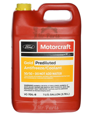 Genuine Ford Motorcraft® Gold Antifreeze/Coolant Prediluted, VC-7DIL-B, 4 Litres