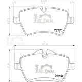 HELLA PAGID OEM Front Brake Pad Kit 8DB 355 016-041 / T2094, fits MINI R56, R57, R60, R61