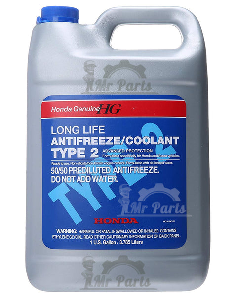 Honda 50/50 Prediluted Long Life Antifreeze Antirust Coolant Type 2, 4 Litres - OL999-9011