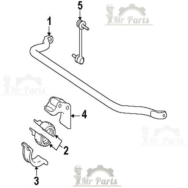 Genuine Mercedes-Benz A 164 323 11 85, Front Suspension Stabilizer / Sway Bar Bushing / Insulator