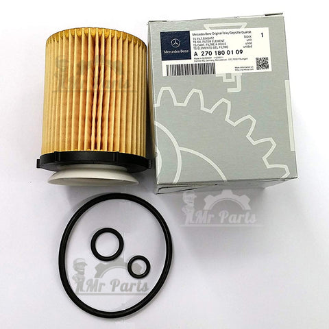 Genuine Mercedes-Benz (270-180-01-09) Engine Oil Filter, fits 2015-2018 Mercedes Benz C300 4Matic/Base, 16-18 C350e Base, 14-19 CLA250 4Matic/Base, 17-18 E300 4Matic/Base, 15-18 GLA250 4Matic/Base, 15-18 GLA 45 AMG® 4Matic