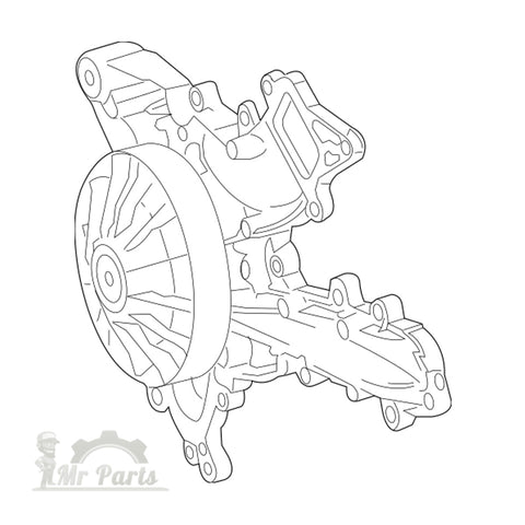 Mercedes Benz 276 200 13 01 A Engine Coolant Water Pump Assembly