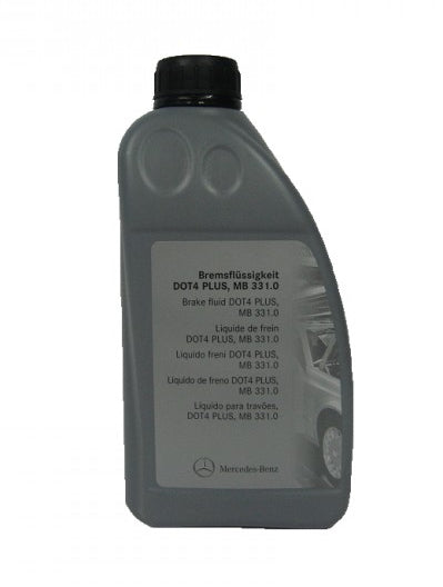 Genuine Mercedes Brake Fluid DOT-4 PLUS, MB Spec 331.0 - 1 Litre / 34 Oz