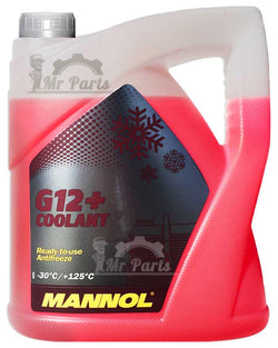 MANNOL G12+ RED Coolant Antifreeze Antirust Ready Mixed, 5 Litres