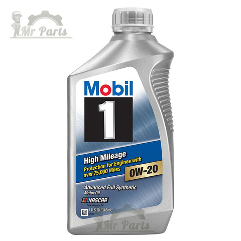 Mobil 1 0W-20 High Mileage Fully Synthetic Engine Oil, 1 Quart