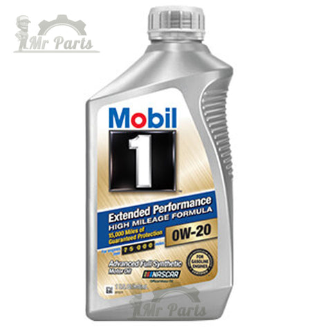 Mobil 1 0W-20 Extended Performance High Mileage Formula Advanced Full Synthetic Engine Oil, 1 Quart