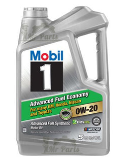 Mobil-1 0W-20 Advanced Fuel Economy Motor Oil 5-Quarts