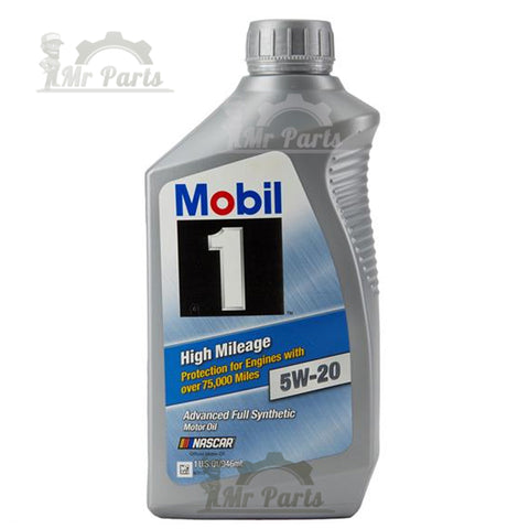Mobil 1 5W-20 High Mileage Fully Synthetic Engine Oil, 1-Quart