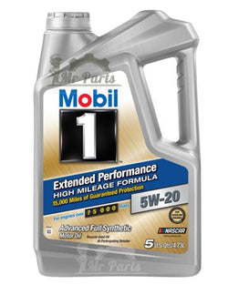 Mobil 1 5W-20 Extended Performance High Mileage Formula Advanced Full Synthetic Engine Oil, 5 Quarts