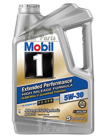 Mobil 1 5W-30 Extended Performance high mileage formula Synthetic Engine Oil, 5 Quarts