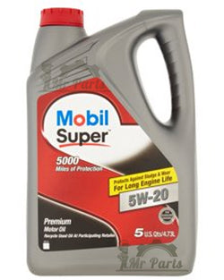 Mobil Super 5W-20 Synthetic Blend Engine Oil, 120755 - 5 Quarts / 4.73 Litres 5w-20