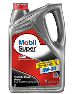 Mobil Super 5W-30 Synthetic Blend Engine Oil, 120755 - 5 Quarts / 4.73 Litres 5w30