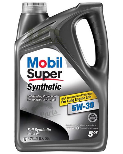 Mobil Super 5W-30 Synthetic Engine Oil, 5 Quarts
