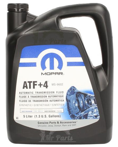 Chrysler (MS-9602) Genuine Mopar ATF+4 Automatic Transmission Fluid - 5 Litres