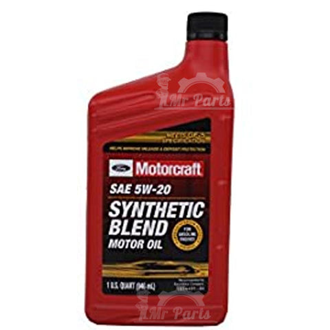 Motorcraft SAE 5W-20 Synthetic Blend Motor Oil / Engine Oil, 1 Quart