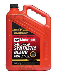 Motorcraft SAE 5W-20 Synthetic Blend Motor Oil / Engine Oil, 5 Quarts