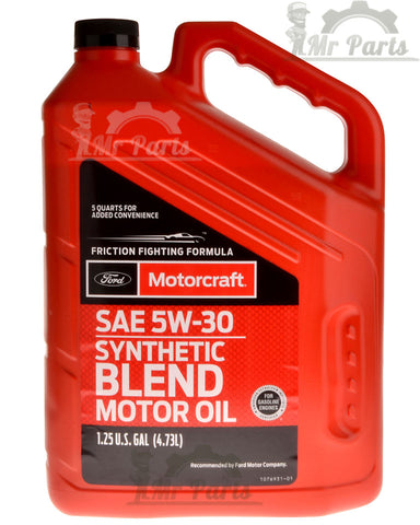 Motorcraft SAE 5w-30 Synthetic Blend Motor Oil / Engine Oil, 5 Quarts