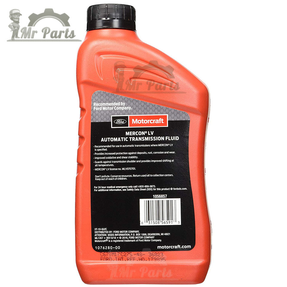Ford Motorcraft Mercon LV Automatic Transmission Fluid and Power Steering  Fluid XT-10-QLVC - 1 Quart / 0 97 Litres