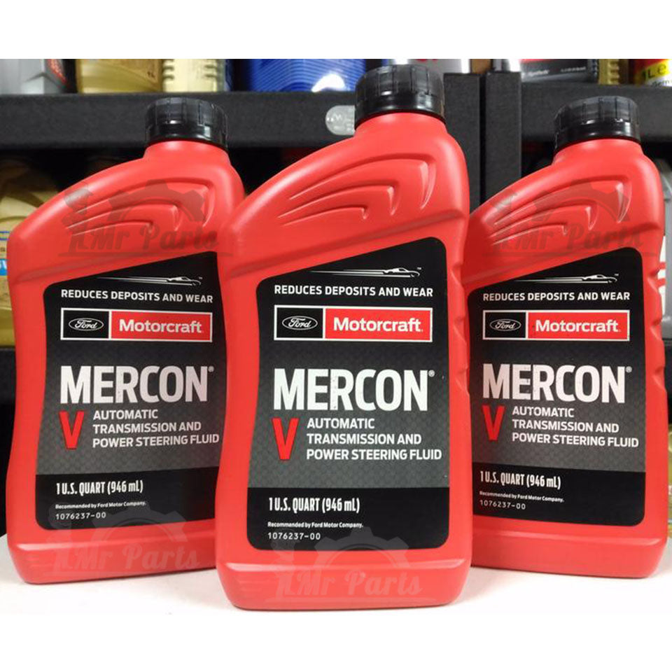 Ford Motorcraft Mercon V Automatic Transmission Fluid and Power Steering  Fluid - 1 Quart / 0 97 Litres